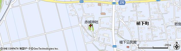 赤城神社周辺の地図