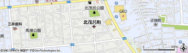 栃木県佐野市北茂呂町周辺の地図