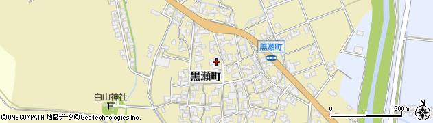 石川県加賀市黒瀬町周辺の地図