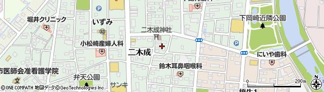 茨城県筑西市二木成周辺の地図