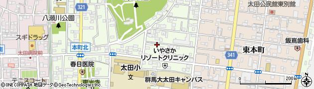 群馬県太田市本町周辺の地図