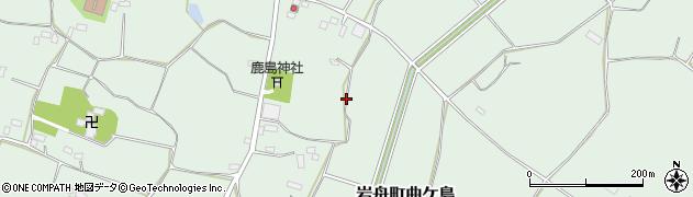 栃木県栃木市岩舟町曲ケ島周辺の地図