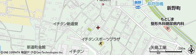 群馬県太田市新道町周辺の地図