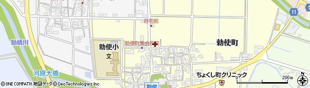 石川県加賀市勅使町(チ)周辺の地図