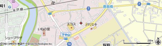 うさちゃんクリーニング エコス下館東店周辺の地図