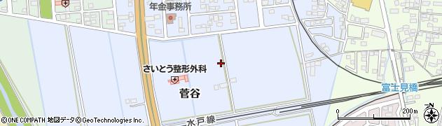 茨城県筑西市菅谷周辺の地図