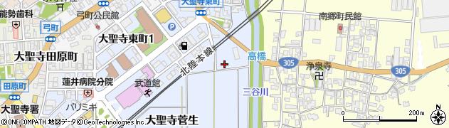 石川県加賀市大聖寺菅生(ハ)周辺の地図