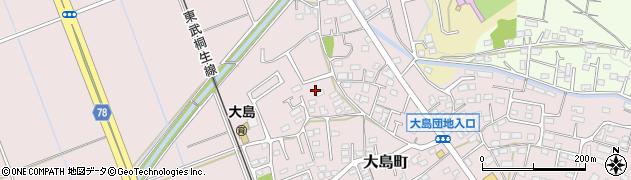 群馬県太田市大島町周辺の地図