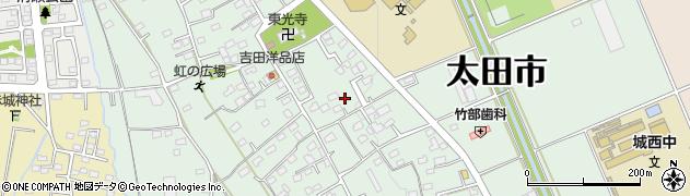 群馬県太田市新野町周辺の地図
