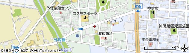 茨城県筑西市外塚周辺の地図