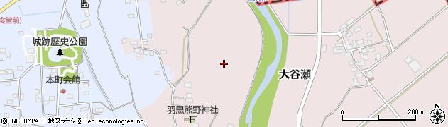 茨城県結城市大谷瀬周辺の地図