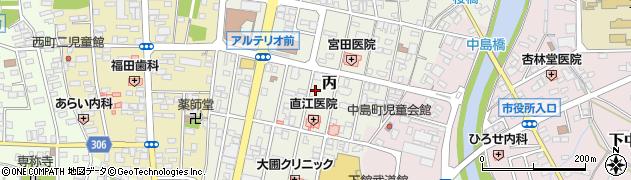 茨城県筑西市丙周辺の地図
