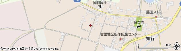 茨城県筑西市知行周辺の地図