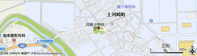 石川県加賀市上河崎町(カ)周辺の地図