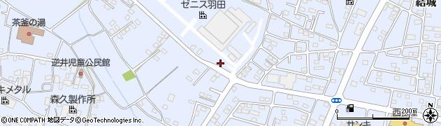 ゼニス羽田株式会社 結城工場周辺の地図
