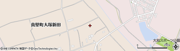 茨城県桜川市真壁町大塚新田周辺の地図