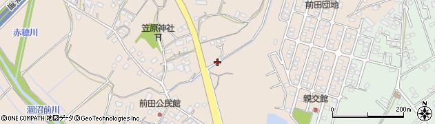 茨城県茨城町(東茨城郡)前田周辺の地図