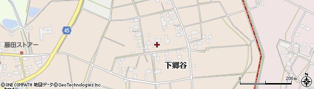 茨城県筑西市下郷谷周辺の地図