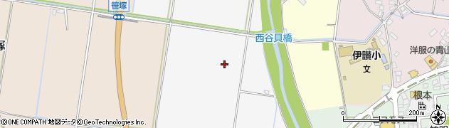 茨城県筑西市西大島周辺の地図