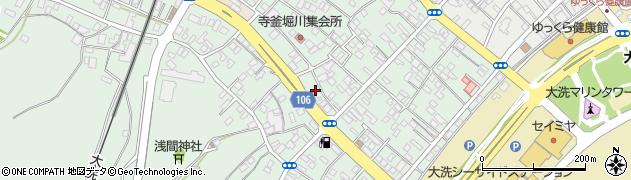 朝日新聞大洗中村新聞店周辺の地図