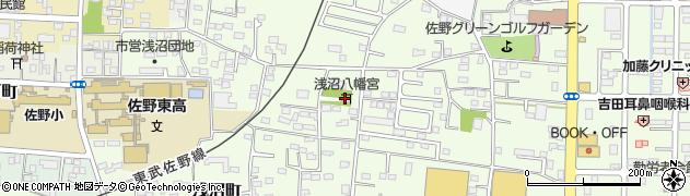 浅沼八幡宮周辺の地図