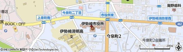 群馬県伊勢崎市周辺の地図