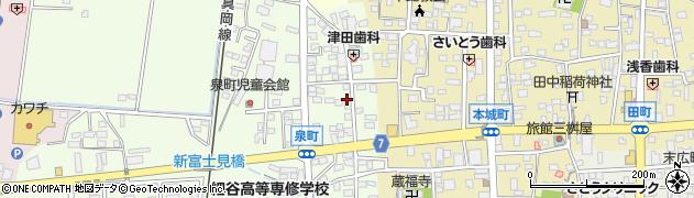 有限会社上村貸ふとん店周辺の地図