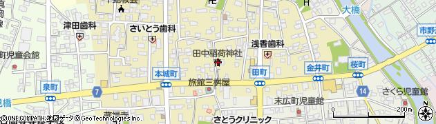 田中稲荷神社周辺の地図