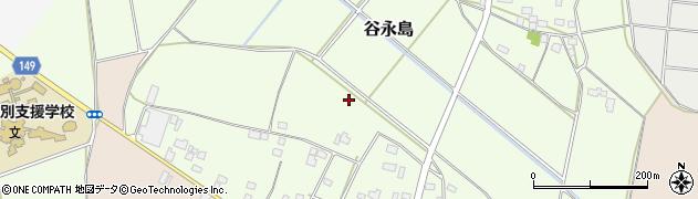 茨城県筑西市谷永島周辺の地図