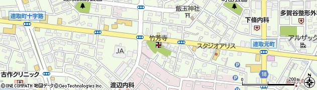 竹芳寺周辺の地図