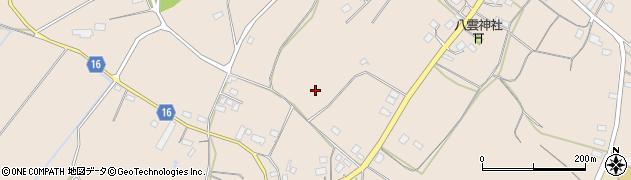 茨城県笠間市住吉周辺の地図