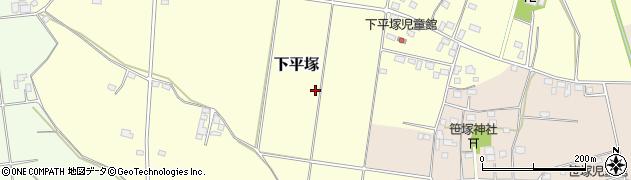茨城県筑西市下平塚周辺の地図