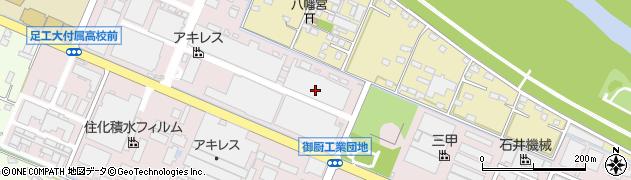 栃木県足利市福富新町周辺の地図