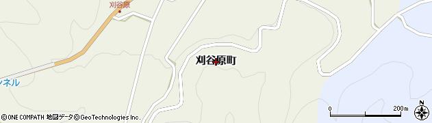 長野県松本市刈谷原町周辺の地図