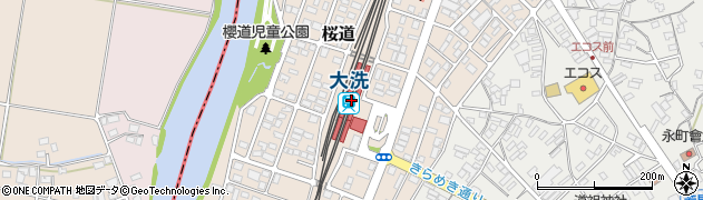 茨城県東茨城郡大洗町周辺の地図