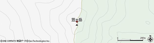 笠ケ岳周辺の地図
