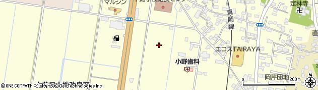 茨城県筑西市岡芹周辺の地図