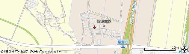 茨城県筑西市栗島周辺の地図