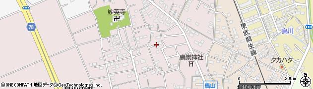 群馬県太田市鳥山中町周辺の地図