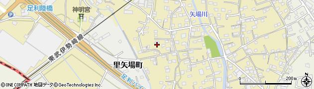 栃木県足利市南大町周辺の地図