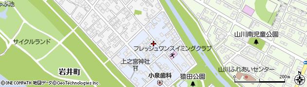 栃木県足利市猿田町周辺の地図