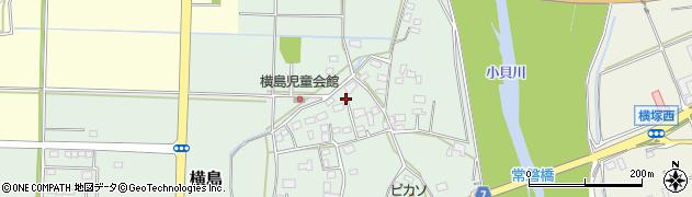 茨城県筑西市横島周辺の地図