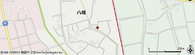 茨城県筑西市八幡周辺の地図