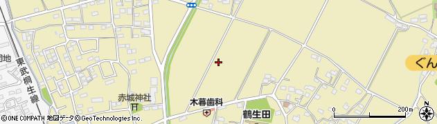 群馬県太田市鶴生田町周辺の地図