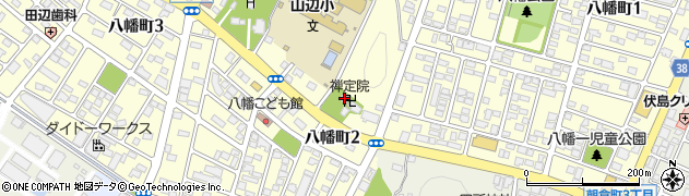 禅定院周辺の地図