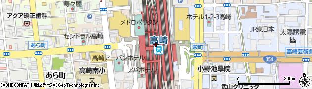 群馬県高崎市周辺の地図