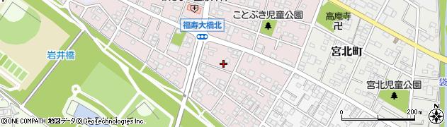 栃木県足利市寿町周辺の地図