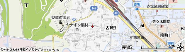 長野県小諸市古城周辺の地図