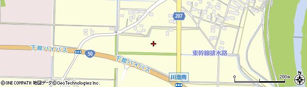 茨城県筑西市川澄周辺の地図