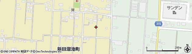 群馬県太田市新田溜池町周辺の地図